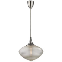 Knox 1 Light 16 inch Satin Nickel Pendant Ceiling Light