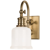 Hudson Valley 1971-AGB Keswick 1 Light 5 inch Aged Brass Bath And Vanity Wall Light photo thumbnail