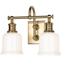 Keswick 2 Light 14 inch Aged Brass Bath And Vanity Wall Light