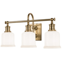 Keswick 3 Light 21 inch Aged Brass Bath And Vanity Wall Light