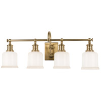 Hudson Valley 1974-AGB Keswick 4 Light 29 inch Aged Brass Bath And Vanity Wall Light
