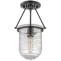 Hudson Valley Lighting Willet 1 Light Fluorescent Semi Flush in Old Bronze 200-OB