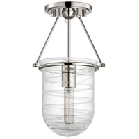 Willet 1 Light 9 inch Polished Nickel Semi Flush Ceiling Light