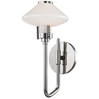 Knowles LED 7 inch Polished Nickel Wall Sconce Wall Light, White