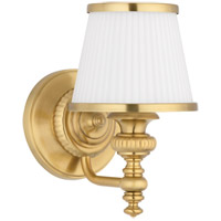Milton 1 Light 6 inch Flemish Brass Bath And Vanity Wall Light