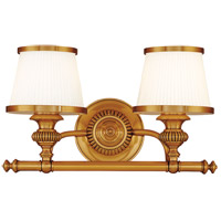 Milton 2 Light 16 inch Flemish Brass Bath And Vanity Wall Light