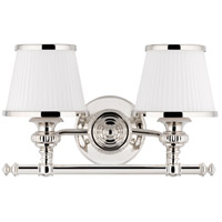 Milton 2 Light 16 inch Polished Nickel Bath And Vanity Wall Light