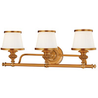 Milton 3 Light 25 inch Flemish Brass Bath And Vanity Wall Light