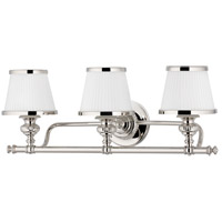Hudson Valley Lighting Milton 3 Light Bath And Vanity in Polished Nickel 2003-PN