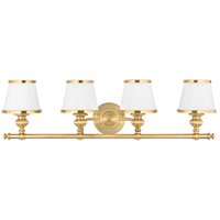 Milton 4 Light 34 inch Flemish Brass Bath And Vanity Wall Light