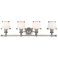 Milton 4 Light 34 inch Polished Nickel Bath And Vanity Wall Light