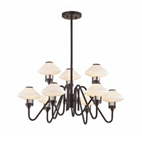 Knowles LED 30 inch Old Bronze Chandelier Ceiling Light, White