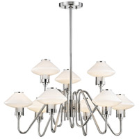 Knowles LED 30 inch Polished Nickel Chandelier Ceiling Light, White