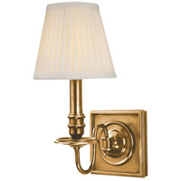 Hudson Valley Lighting Sheldrake 1 Light Wall Sconce in Aged Brass 201-AGB