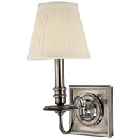 Hudson Valley Lighting Sheldrake 1 Light Wall Sconce in Historic Nickel 201-HN