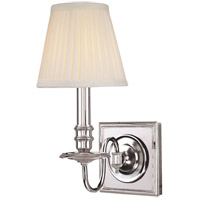 Hudson Valley Lighting Sheldrake 1 Light Wall Sconce in Polished Nickel 201-PN