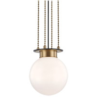 Hudson Valley 2011-AOB Gunther 1 Light 11 inch Aged Old Bronze Pendant Ceiling Light