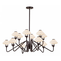 Hudson Valley 2012-OB Knowles LED 43 inch Old Bronze Chandelier Ceiling Light White