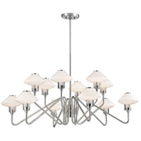 Hudson Valley 2012-PN Knowles LED 43 inch Polished Nickel Chandelier Ceiling Light White