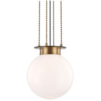 Hudson Valley 2014-AOB Gunther 1 Light 14 inch Aged Old Bronze Pendant Ceiling Light