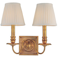 Hudson Valley Lighting Sheldrake 2 Light Wall Sconce in Aged Brass 202-AGB