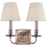 Hudson Valley 202-HN Sheldrake 2 Light 13 inch Historic Nickel Wall Sconce Wall Light
