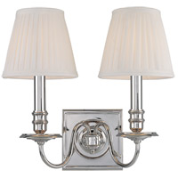 Hudson Valley 202-PN Sheldrake 2 Light 13 inch Polished Nickel Wall Sconce Wall Light