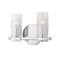 Malone 2 Light 11 inch Polished Chrome Bath Vanity Wall Light