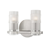Malone 2 Light 11 inch Satin Nickel Bath Vanity Wall Light