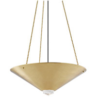 Hudson Valley 2026-AGB Heron 4 Light 26 inch Aged Brass Pendant Ceiling Light