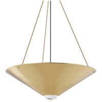 Hudson Valley 2038-AGB Heron 6 Light 38 inch Aged Brass Pendant Ceiling Light