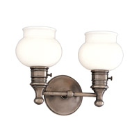 Hudson Valley Lighting Providence 2 Light Bath And Vanity in Historic Nickel 2102-HN