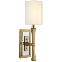 York 1 Light 5 inch Aged Brass Wall Sconce Wall Light