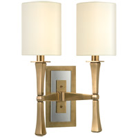 York 2 Light 13 inch Aged Brass Wall Sconce Wall Light