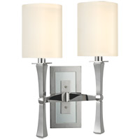 York 2 Light 13 inch Polished Nickel Wall Sconce Wall Light