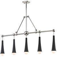 Tupelo LED 42 inch Polished Nickel and Black Island Ceiling Light