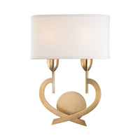 Downing 2 Light 13 inch Aged Brass Wall Sconce Wall Light