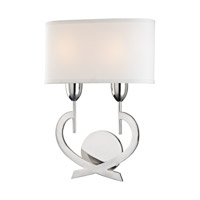 Downing 2 Light 13 inch Polished Nickel Wall Sconce Wall Light