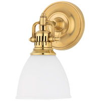 Hudson Valley Lighting Pelham 1 Light Wall Sconce in Aged Brass 2201-AGB