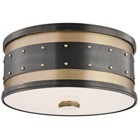 Gaines 2 Light 12 inch Aged Old Bronze Flush Mount Ceiling Light