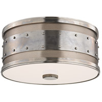 Gaines 2 Light 12 inch Historic Nickel Flush Mount Ceiling Light