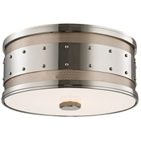 Gaines 2 Light 12 inch Polished Nickel Flush Mount Ceiling Light