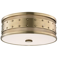 Gaines 3 Light 16 inch Aged Brass Flush Mount Ceiling Light