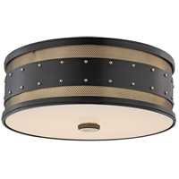 Gaines 3 Light 16 inch Aged Old Bronze Flush Mount Ceiling Light