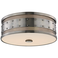Gaines 3 Light 16 inch Historic Nickel Flush Mount Ceiling Light