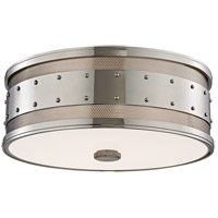 Hudson Valley Lighting Gaines 3 Light Flush Mount in Polished Nickel 2206-PN