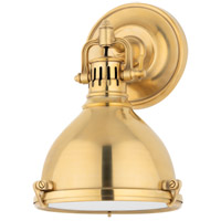 Hudson Valley Lighting Pelham 1 Light Wall Sconce in Aged Brass 2209-AGB
