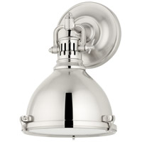 Hudson Valley Lighting Pelham 1 Light Wall Sconce in Polished Nickel 2209-PN