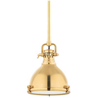 Hudson Valley Lighting Pelham 1 Light Pendant in Aged Brass 2210-AGB