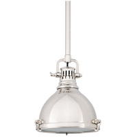 Hudson Valley 2210-PN Pelham 1 Light 8 inch Polished Nickel Pendant Ceiling Light